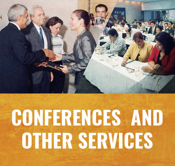 Service of conferences about global trade
